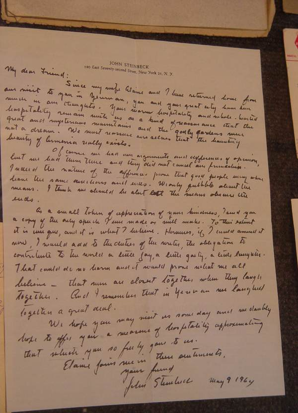 Steinbeck Letter
